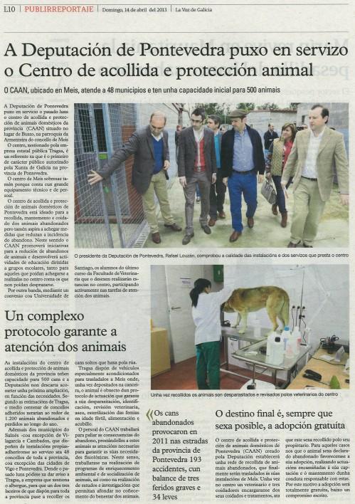 La Voz de Galicia, 14 de abril de 2013.