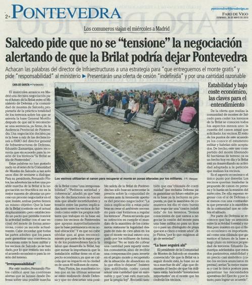 Faro de Vigo, 26 de maio de 2013.