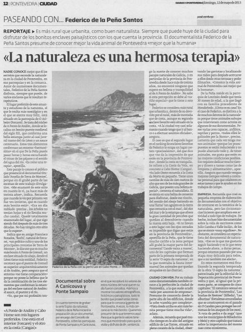Diario de Pontevedra, 12 de maio de 2013.