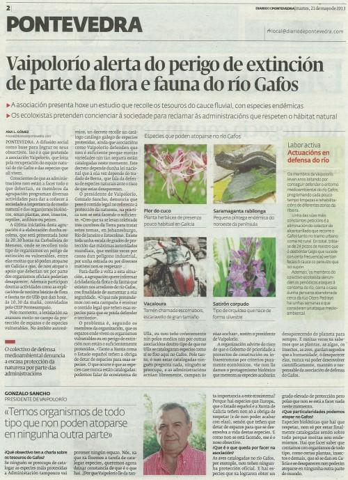 Diario, 21 de maio de 2013.