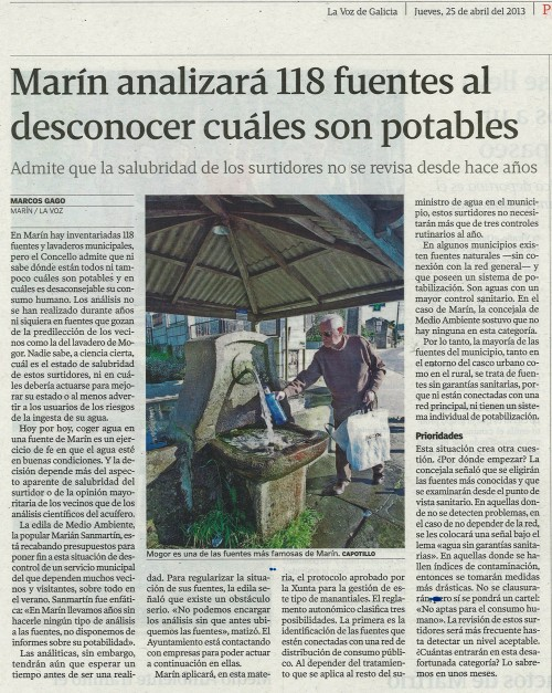 La Voz, 25 de abril de 2013.