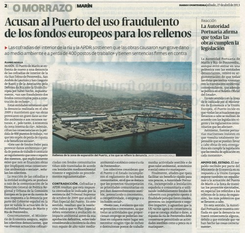 Diario, 27 de abril de 2013.