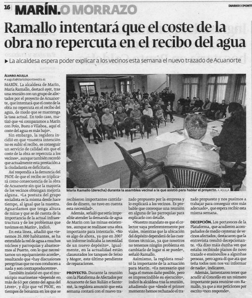 Diario de Pontevedra, 30 de abril de 2013.
