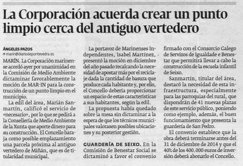 Diario de Pontevedra, 30 de abril de 2013