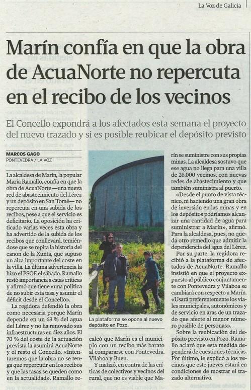 La Voz de Galicia, 30 de abril de 2013.