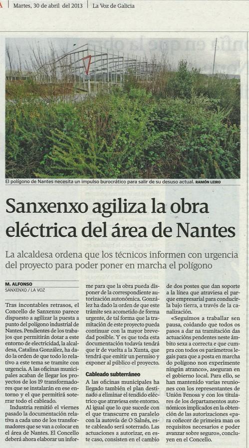 La Voz, 30 de abril de 2013.
