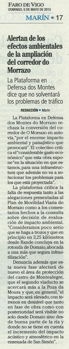 Faro, 5 de maio de 2013.