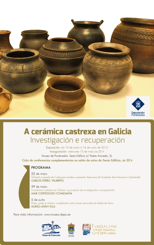 Exposición de cerámica castrexa, en Pontevedra.