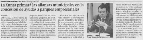 Diario de Pontevedra, 8 de maio de 2013.