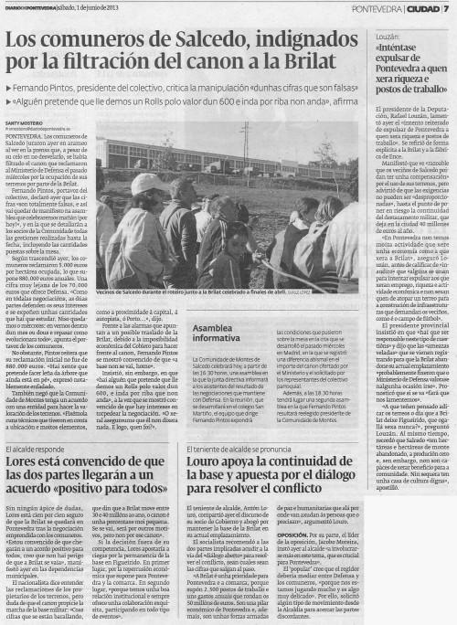 Diario, 1 de xuño de 2013.