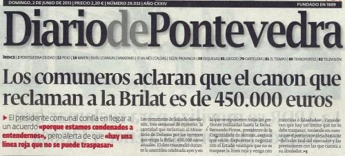 Diario, 2 de xuño de 2013.