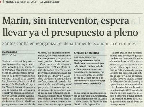 La Voz, 4 de xuño de 2013.