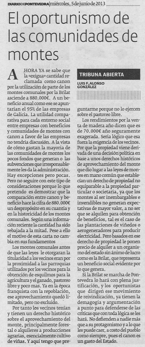 Diario, 5 de xuño de 2013.