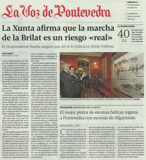 La Voz, 5 de xuño de 2013.