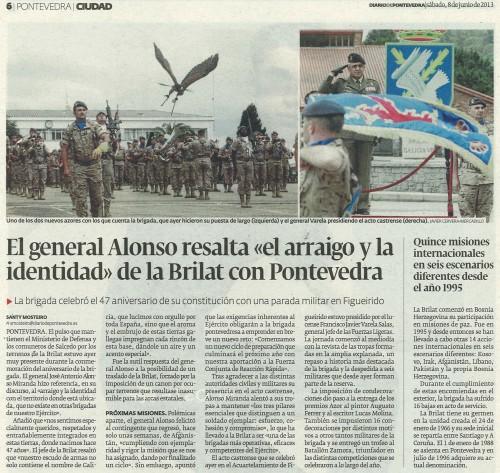 Diario de Pontevedra, 8 de xuño de 2013.