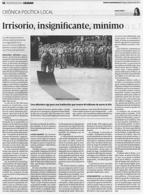 Diario, 9 de xuño de 2013.