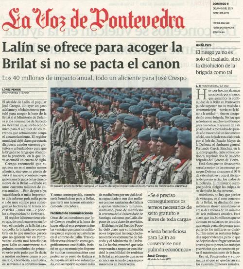 La Voz, 9 de xuño de 2013.