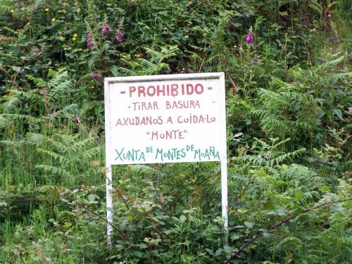 Panel da Comunidade de Montes de Moaña.