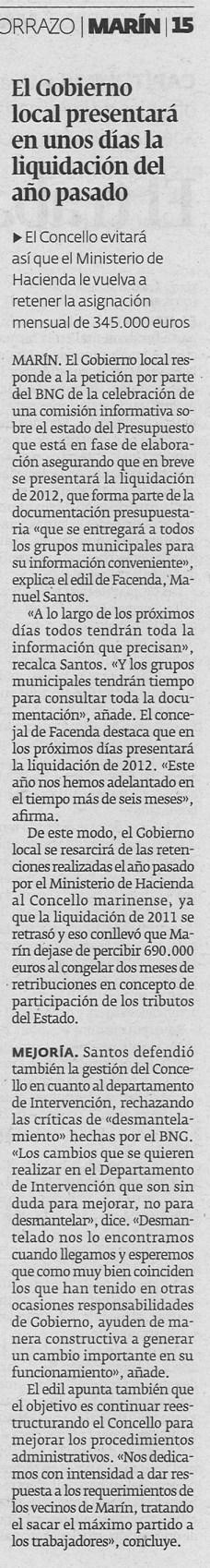 Diario, 13 de xuño de 2013.