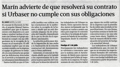 La Voz, 13 de xuño de 2013.
