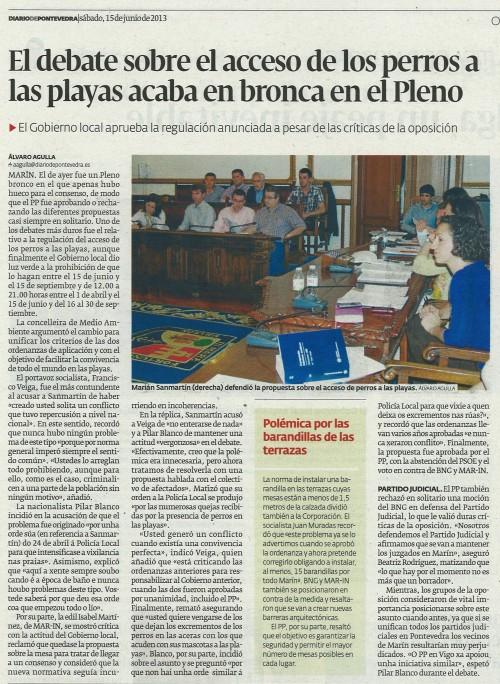 Diario, 15 de xuño de 2013