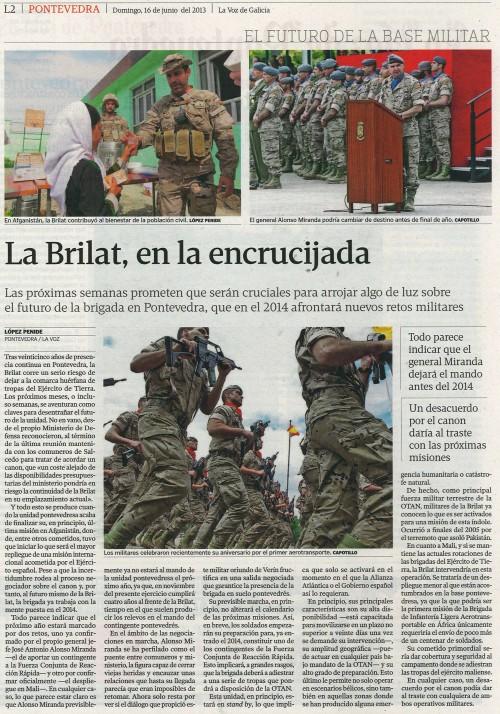 La Voz, 16 de xuño de 2013.