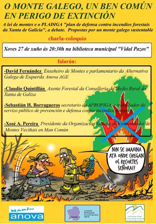 Charla sobre o Monte Galego que se celebra hoxe en Marín.