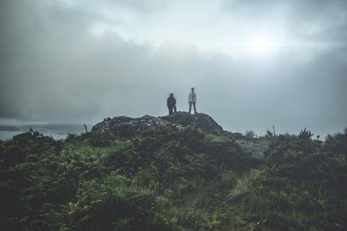 """Gravación da curta """"Mapache Blues"""" no Monte Pituco. [Foto, Diego Muñoz]."""