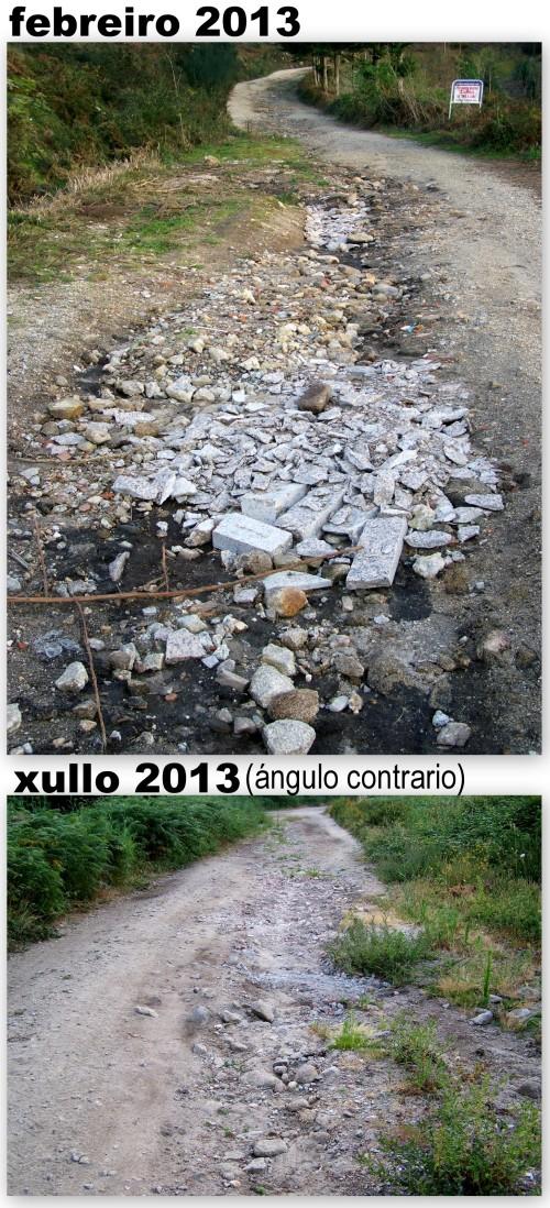 Retirados tamén uns restos de obra ciscados na pista forestal do Monte Pituco.