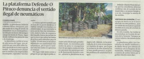 Diario de Pontevedra, 13 de agosto de 2013.