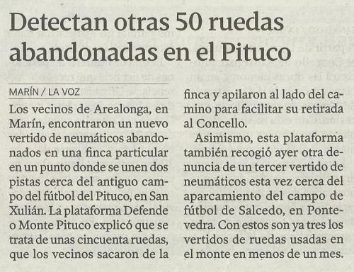 La Voz de Galicia, 13 de agosto de 2013.