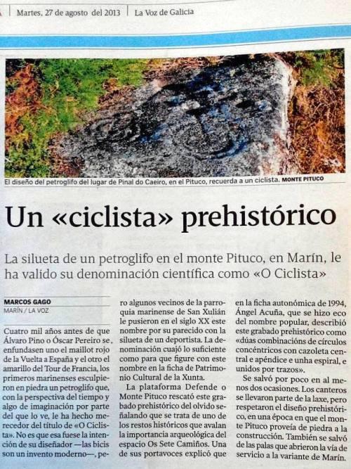 La Voz de Galicia, 27 de agosto de 2013.