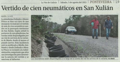 La Voz de Galicia, 4 de agosto de 2013.