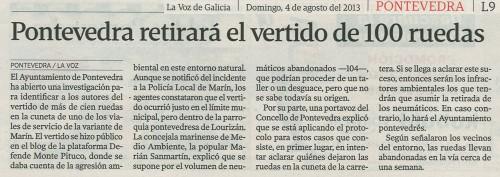 La Voz, 5 de agosto de 2013.