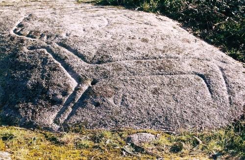 Petroglifo de Monte de Cuñas, en Pontecaldelas.