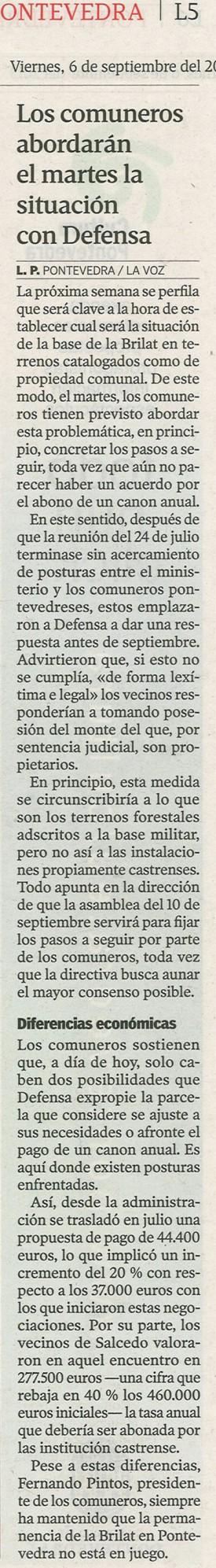 La Voz, 6 de septiembre de 2013.