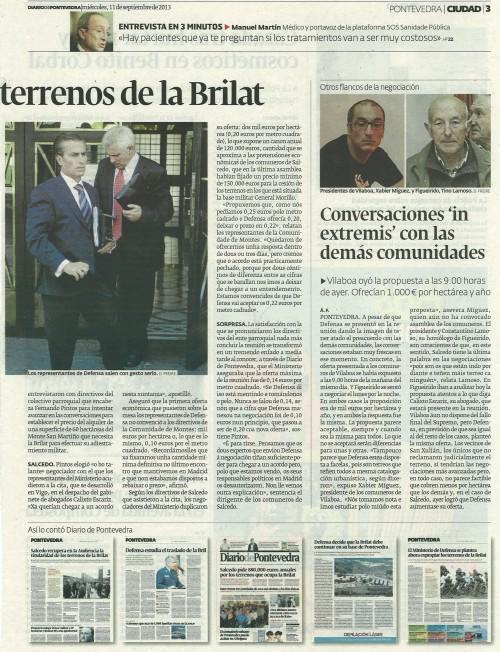 Diario, 11 de setembro de 2013.
