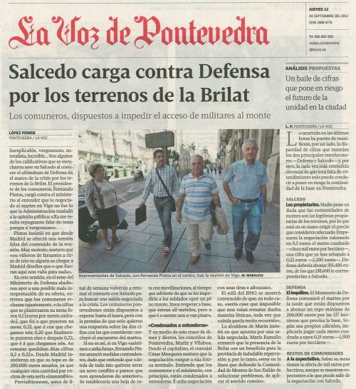 La Voz, 12 de setembro de 2013.