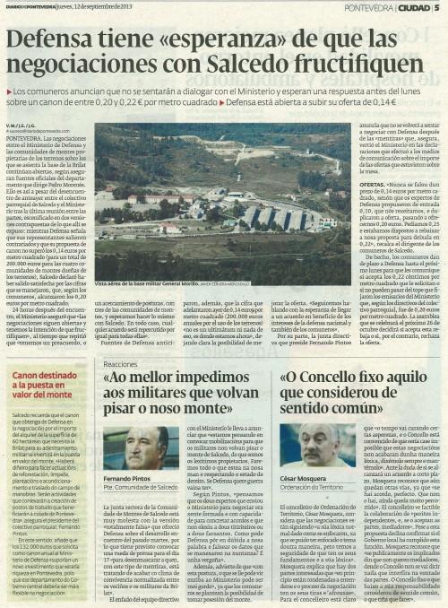 Diario, 12 de setembro de 2013.