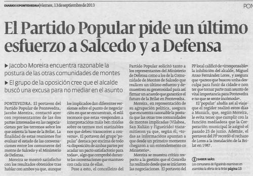 Diario, 13 de setembro de 2013.