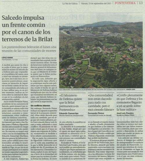 La Voz, 13 de setembro de 2013.
