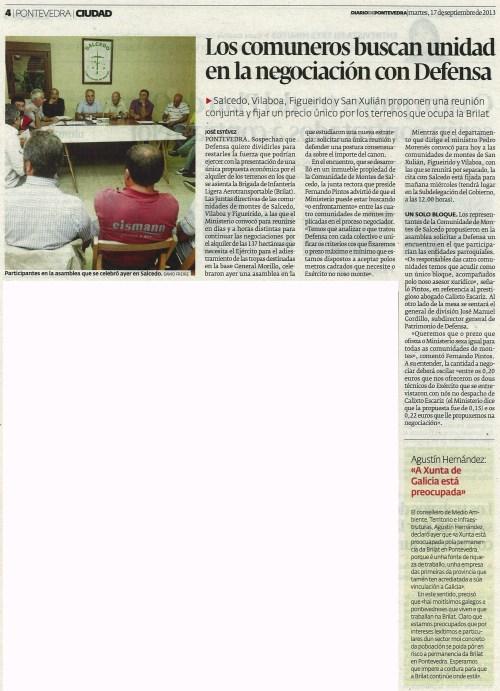 Diario, 17 de setembro de 2013.