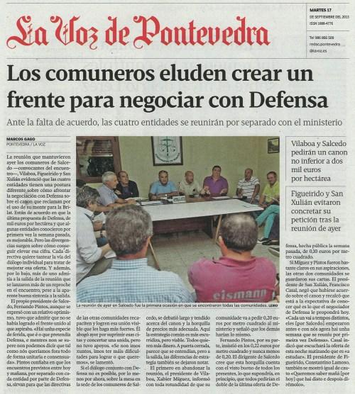 La Voz, 17 de setembro de 2013.