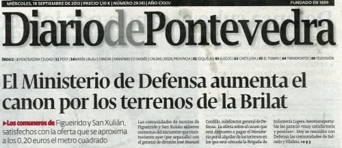 Diario, 18 de setembro de 2013.