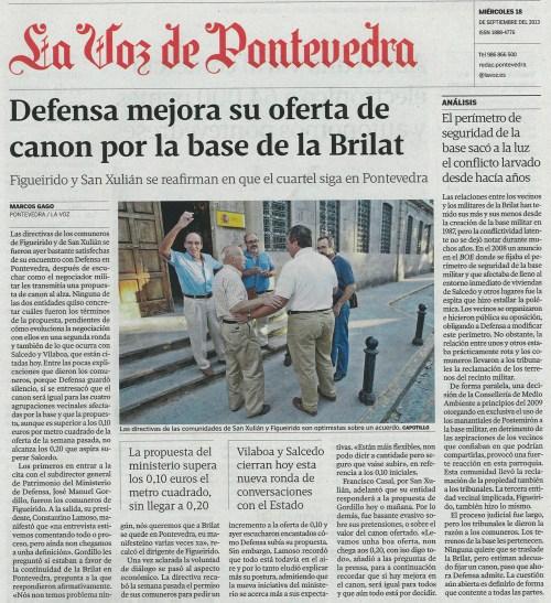 La Voz, 18 de setembro de 2013.