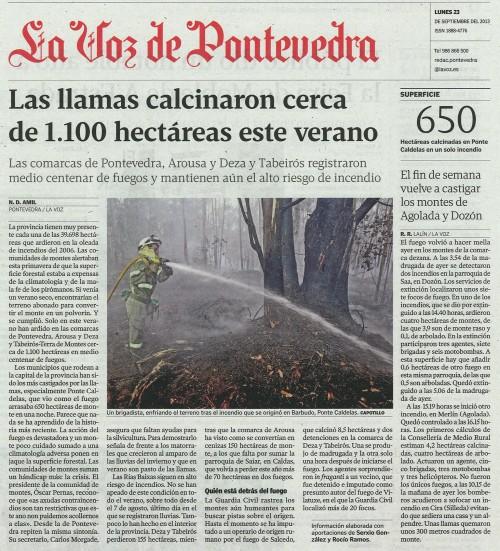La Voz, 23 de setembro de 2013.