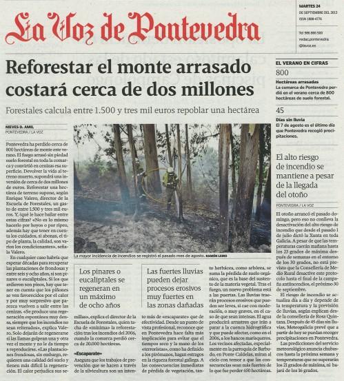 La Voz, 24 de setembro de 2013.