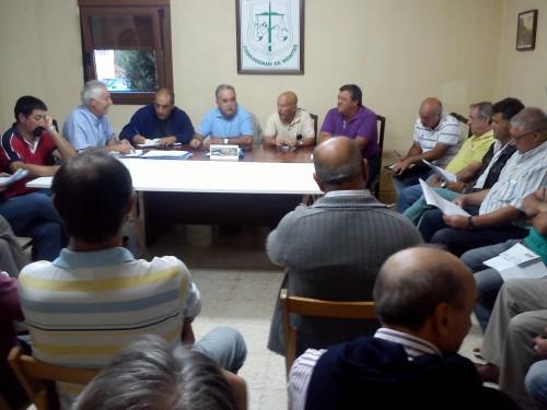 Reunión de directivos das comunidades de montes de Salcedo, Vilaboa, Figueirido e San Xulián.