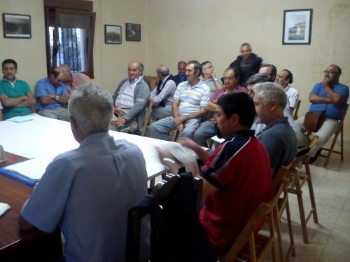 Reunión de directivos das comunidades de San Xulián, Figueirido, Vilaboa e Salcedo.