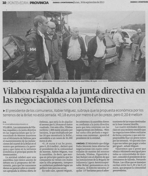 Diario, 30 de setembro de 2013.
